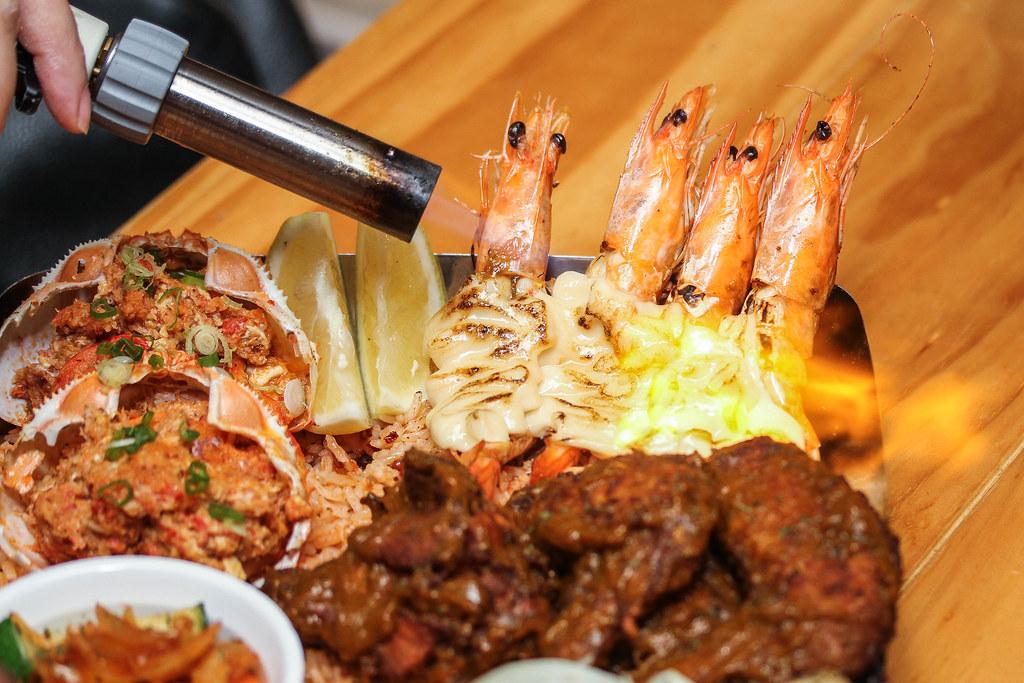 曼哈顿鱼市的盘子——燃烧着燃烧着的明虾