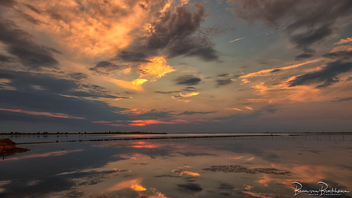 Gorgeous cloudy sky at sunset