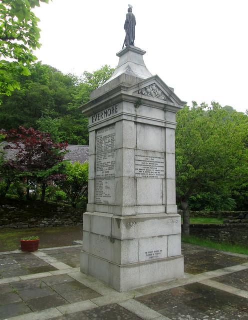 Berriedale War Memorial Showing World War 2 Dedication