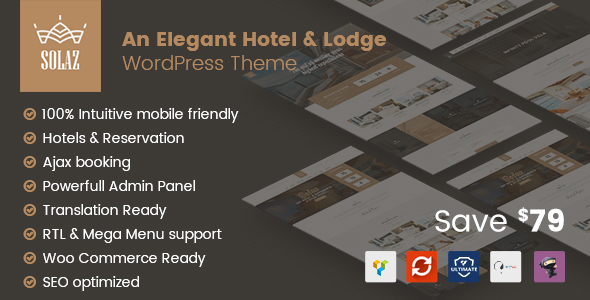 Solaz v1.1.4 - An Elegant Hotel & Lodge WordPress Theme