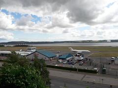 Dundee Airport from Botanic Garden