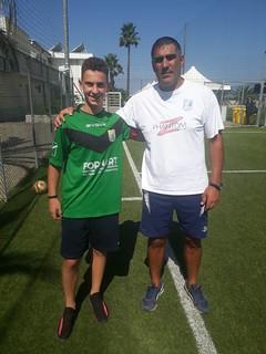 Michele Cristantielli con il mister Gioacchino Prisciandaro