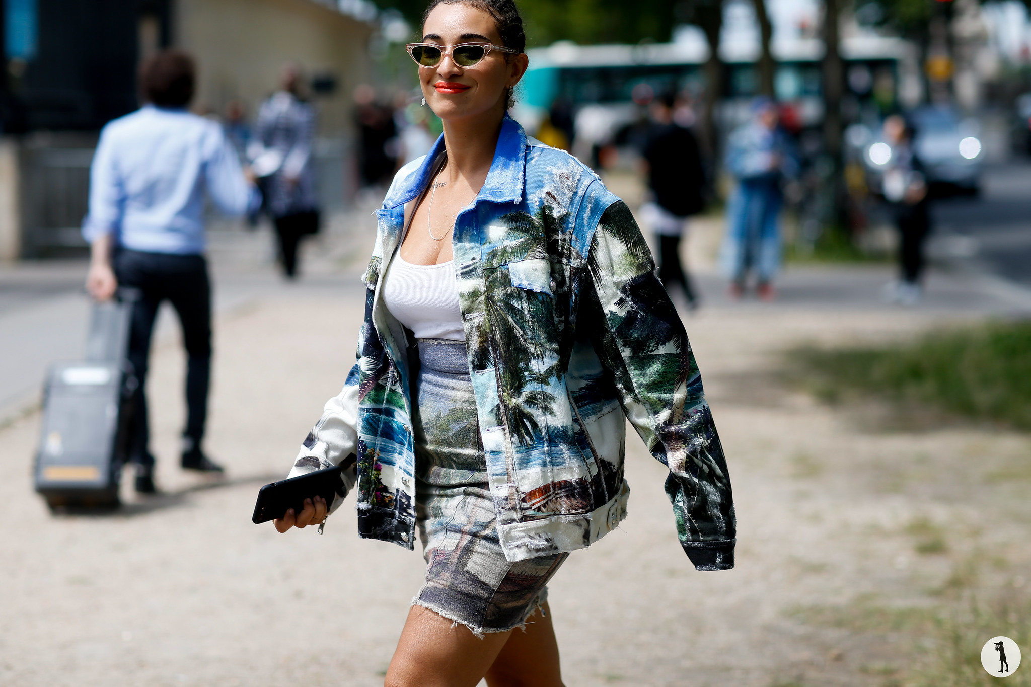 Camelia Jordana - Paris Fashion Week Menswear SS19 (1)