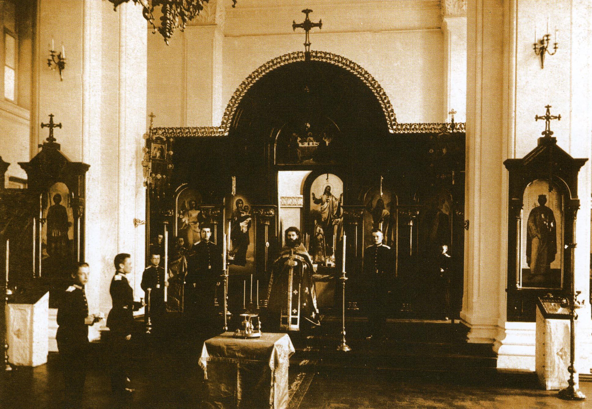 Кадетский корпус. Иоанно-Богословская церковь внутри корпуса