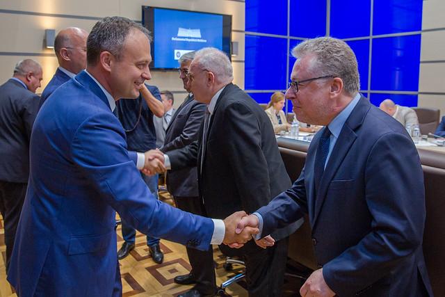 Întrevederea preeșdintelui Parlamentului, Andrian Candu, cu ambasadorii acreditați în Moldova.