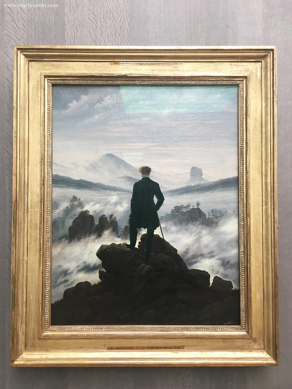 Viandante sul mare di nebbia, Caspar David Friedrich. Alte Nationalgalerie
