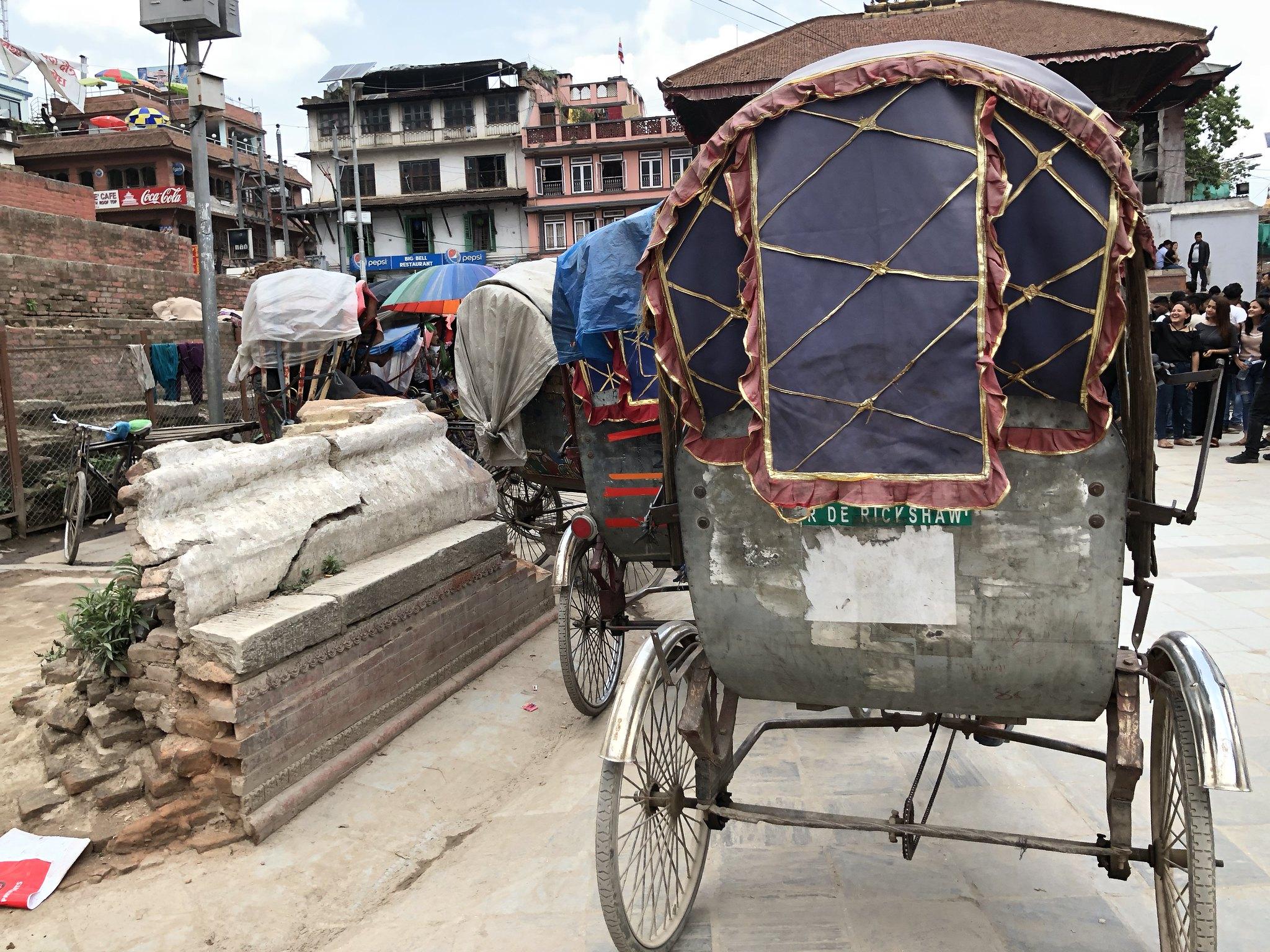 Rickshaws at Kathmandu Durbar Square