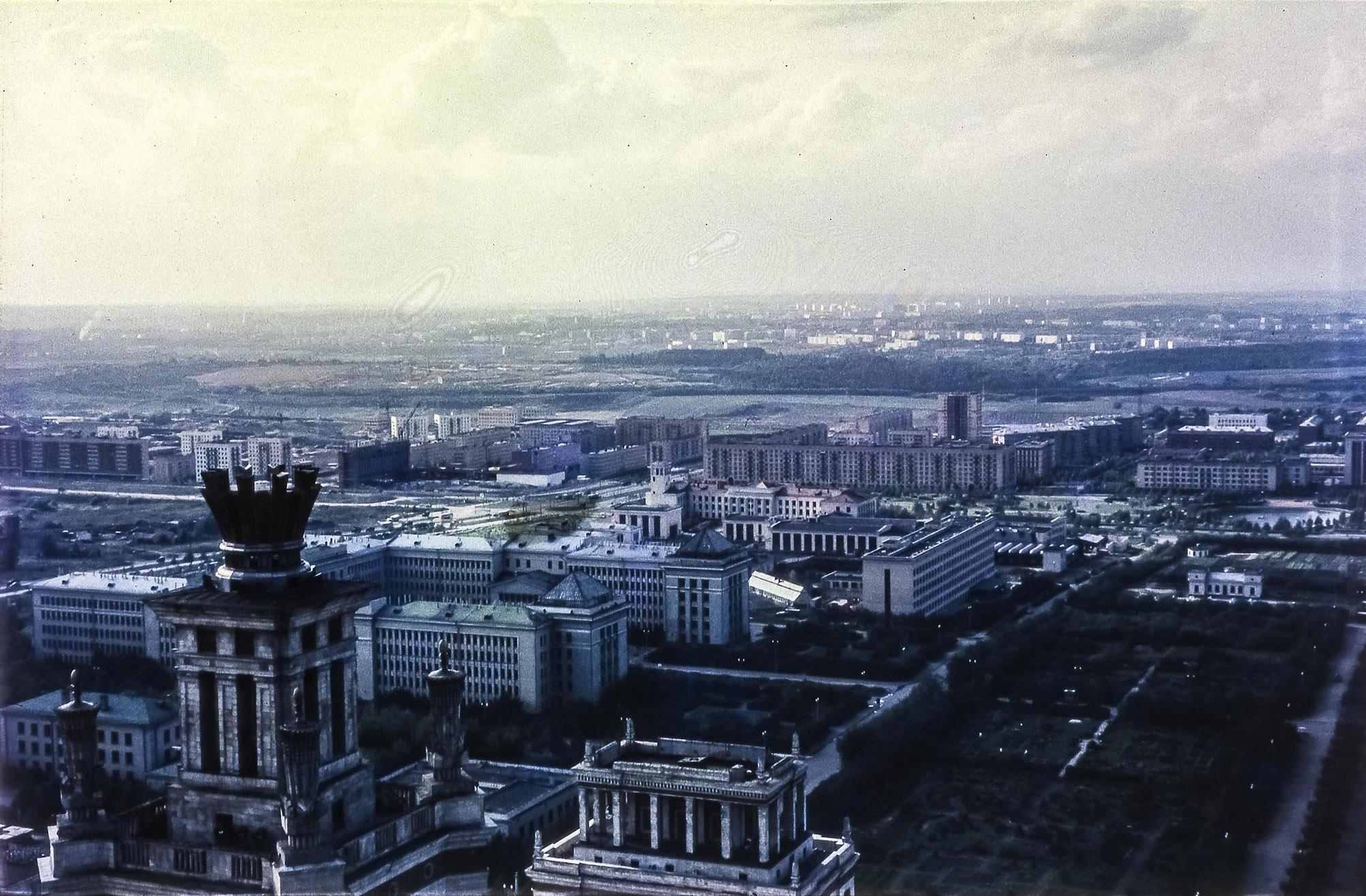 МГУ. Вид на запад с Главного здания МГУ
