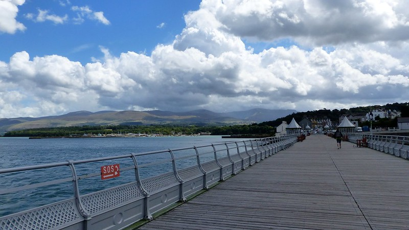 This is a picture of garth pier. bangor.