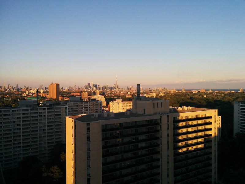 Skyline, west to east (3) #toronto #mississauga #skyline #highparknorth #lakeontario #sky #blue