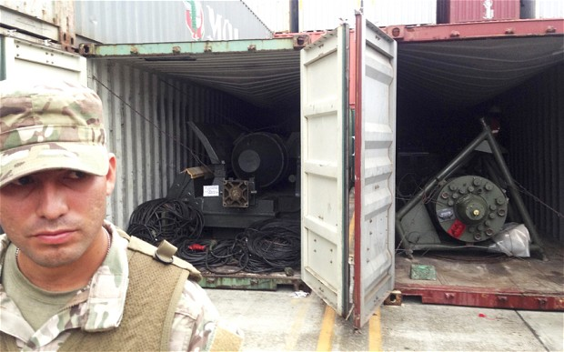 Armaments hidden inside shipping containers aboard North Korean cargo ship Chongchongang in Colon, Panama, July 15, 2013.