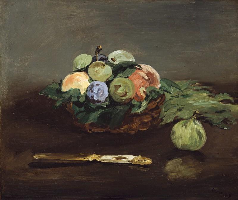Edouard Manet - Basket of Fruit (c.1864)