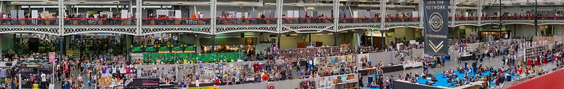 View of the crowds from the second floor at LFCC 2018
