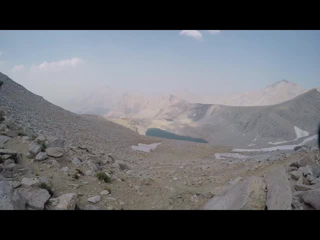 0780 GoPro video looking north from Forester Pass on the John Muir Trail