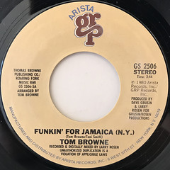 TOM BROWNE:FUNKIN' FOR JAMAICA(N.Y.)(LABEL SIDE-A)