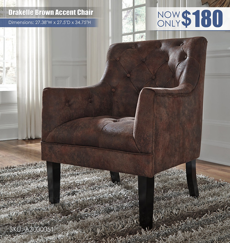 Drakelle Brown Accent Chair_A3000051