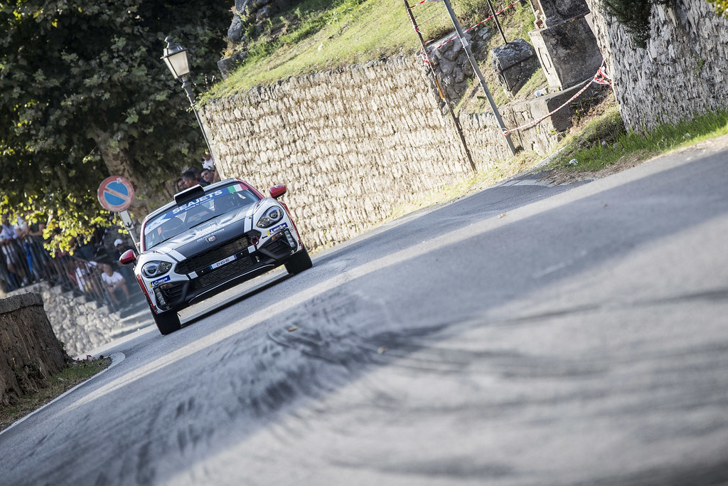 30 ASTIER Raphael (fra), VAUCLARE Frederic (fra), Abarth 124 Rally, action during the 2018 European Rally Championship ERC Rally di Roma Capitale,  from july 20 to 22 , at Fiuggi, Italia - Photo Gregory Lenormand / DPPI