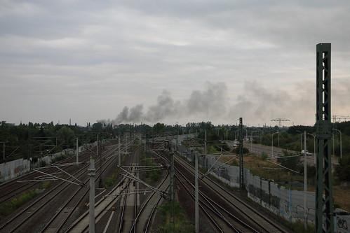 Brandwolke Alter Schlachthof, Brücke Dieselstraße