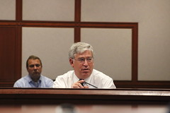 Rep. Storms discusses school safety during a working group meeting on July 24th.