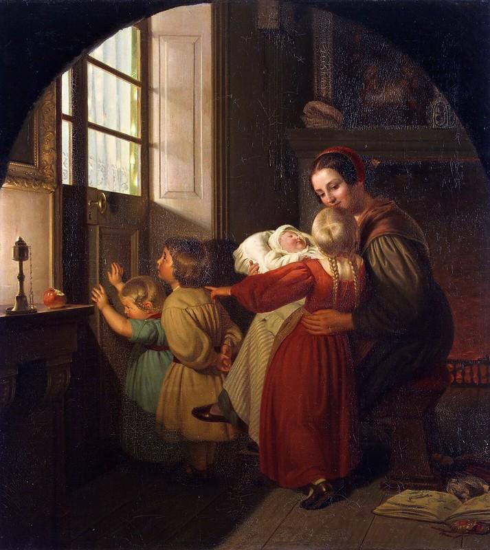 Ferdinand Theodor Hildebrandt - Weihnachtsabend (1840)