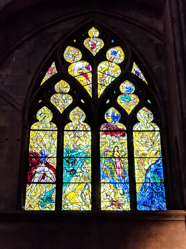 one of several Chagall windows in the Metz Cathedral