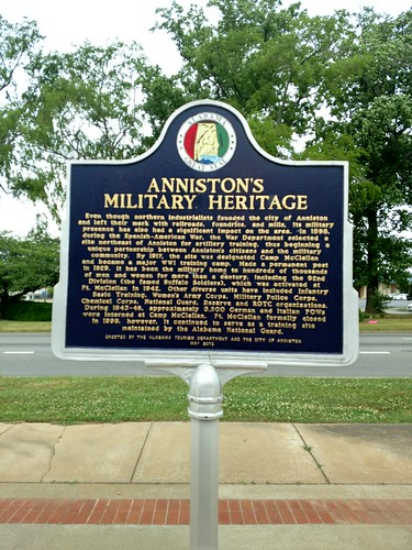 Anniston, Alabama - Anniston's Military Heritage Historical Marker