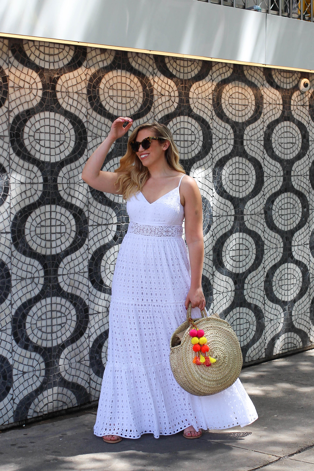 I'm 30 Years Old & This Is my First Lilly Pulitzer Dress Melody Maxi Dress White Eyelet Fabric