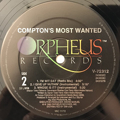 COMPTON'S MOST WANTED:I'M WIT DAT(LABEL SIDE-B)