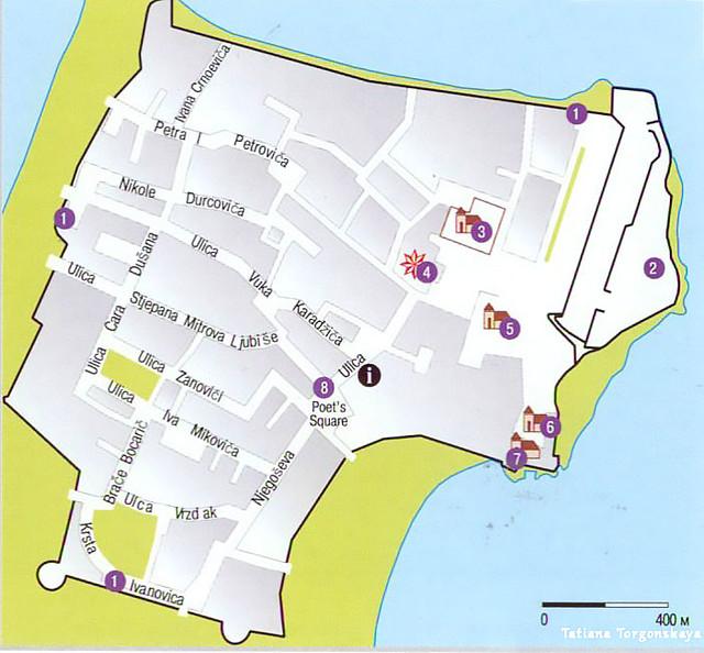 Карта Старой Будвы