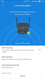 Capture d'écran Xiaomi Pro 300 Mbits Wifi amplificateur Mi-Home