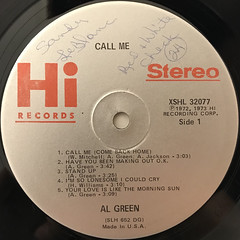 AL GREEN:CALL ME(LABEL SIDE-A)