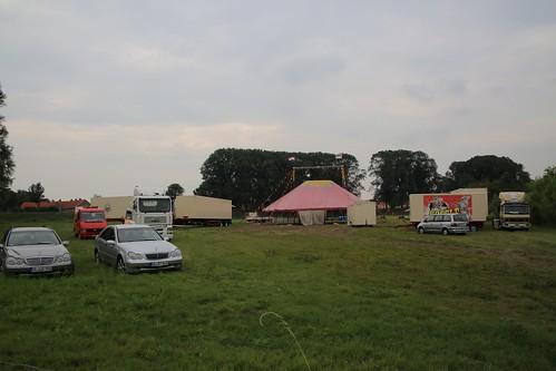 ENKHUIZEN - 13 aug  Opbouw Circus Bossle