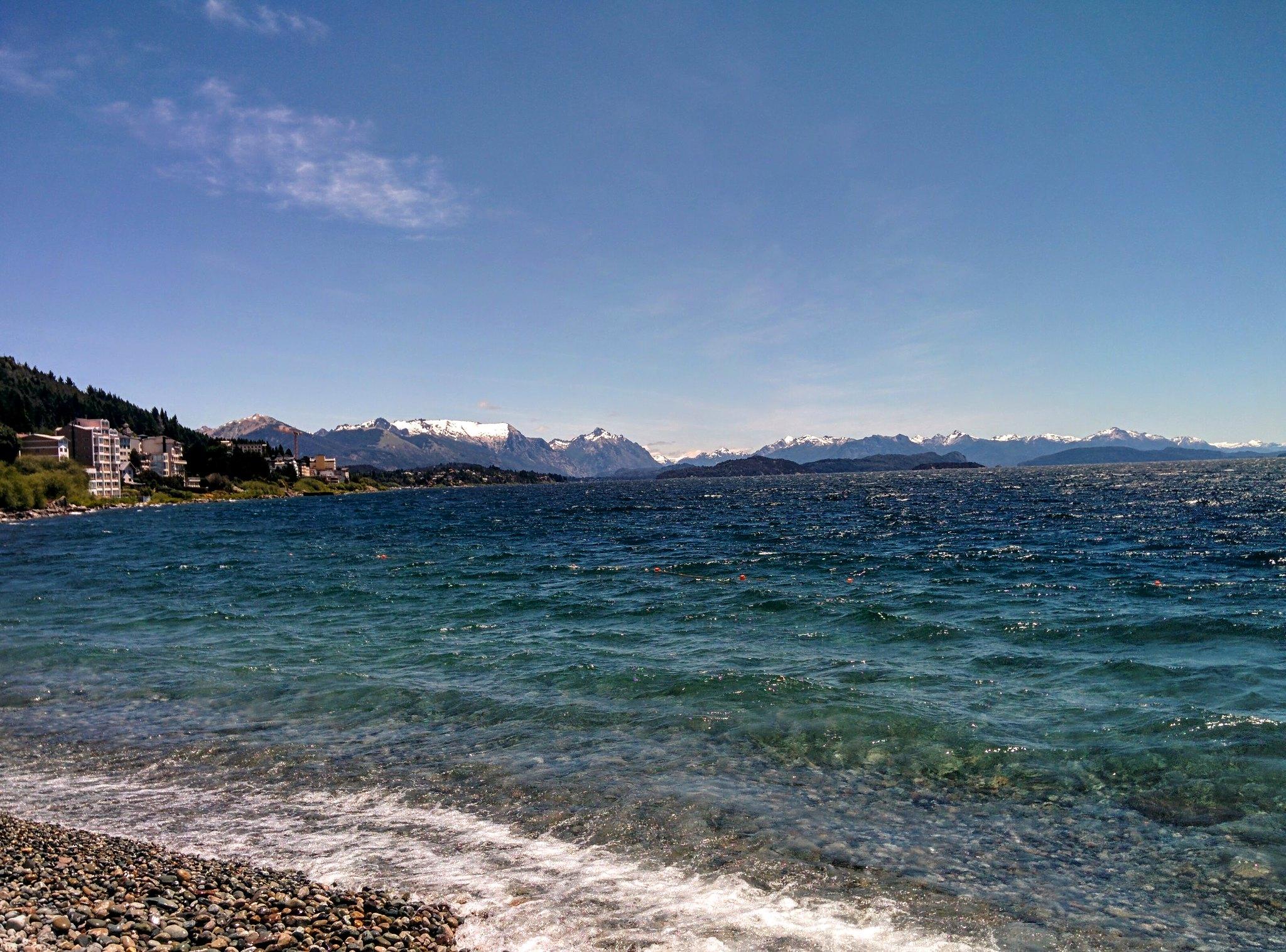 The shoreline at Bariloche