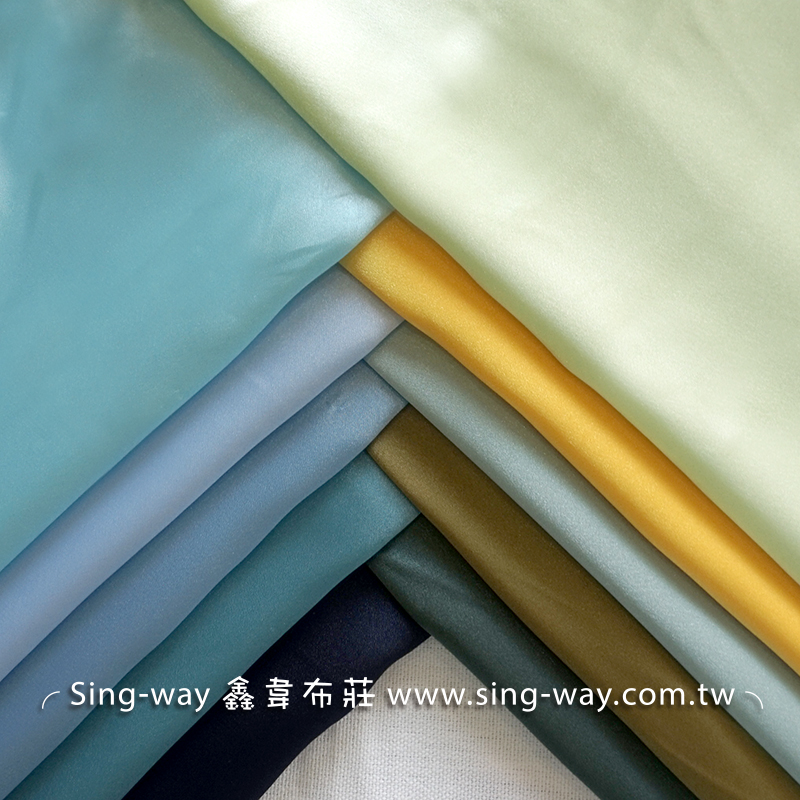 LD490045 藍綠黃色系 素面緞面 亮面節慶裝飾 桌巾 表演舞台禮服 衣服內裡 服裝布料