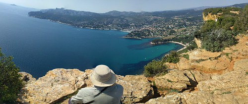 Panorama above Cassis, France