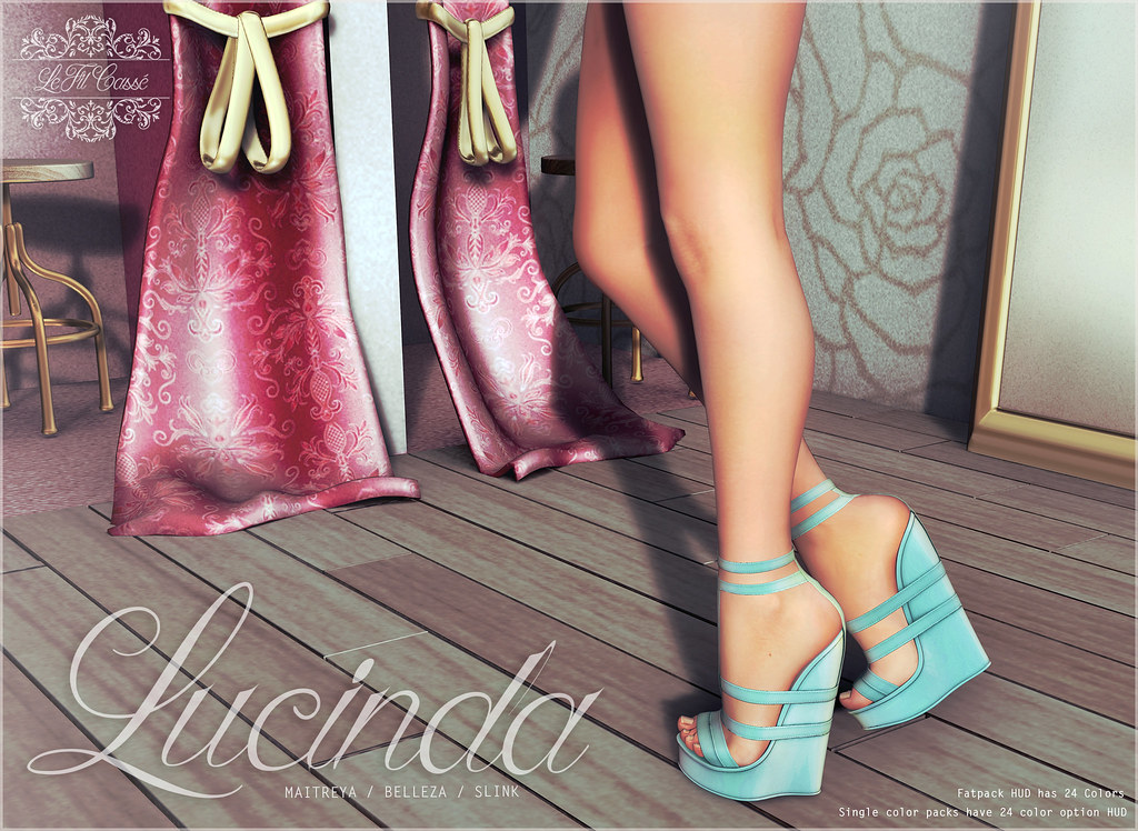 {le fil casse} Lucinda Wedge for Mermaid Cove!