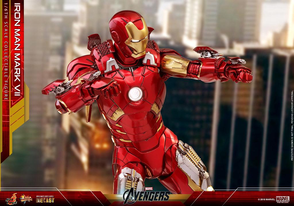 可以從Suit Pod 變形為人型裝甲!! Hot Toys – MMS500D27 –《復仇者聯盟》鋼鐵人馬克7 Iron Man Mark VII 1/6 比例合金人偶作品