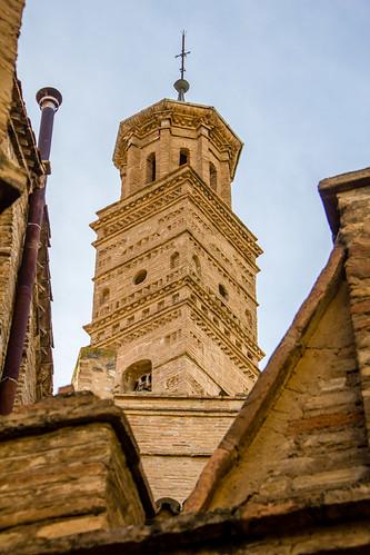 Torre exterior Iglesia de la Concepción de Nuestra Señora Antiguo convento de concepcionistas Tarazona Zaragoza