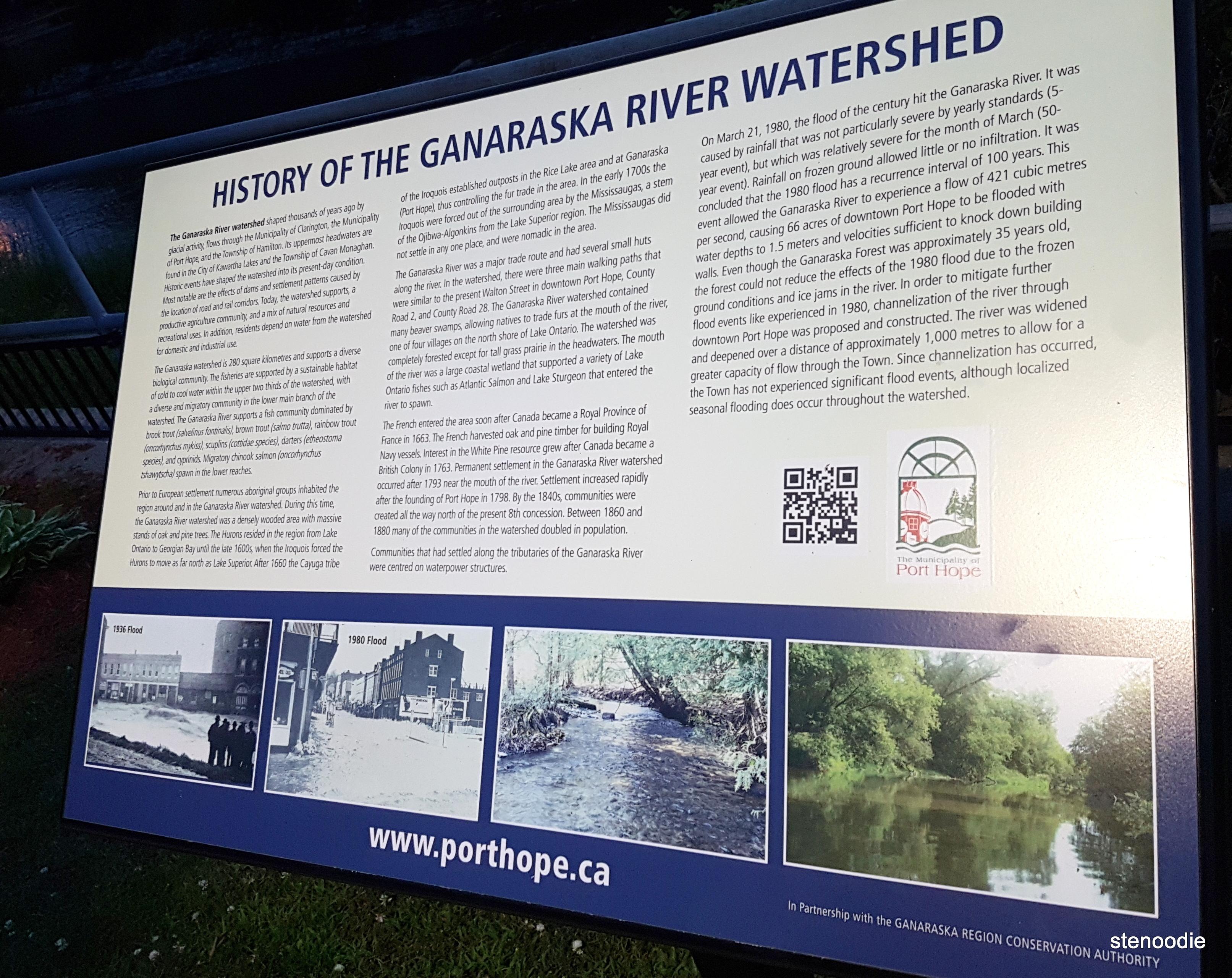 History of the Ganaraska River watershed