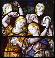 Miriam and the dancing girls (Burlison & Grylls, 1880s)