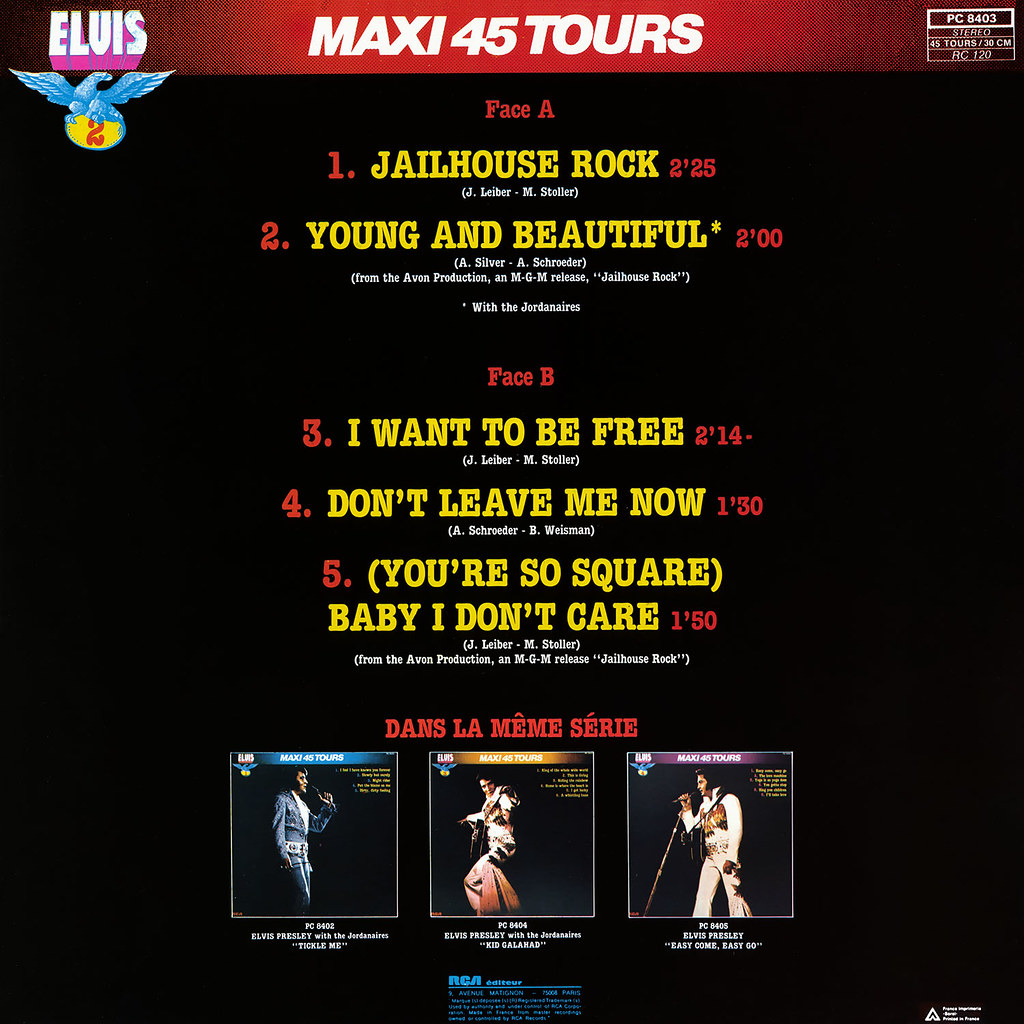 Elvis Presley - Maxie 45 Tours vol 2