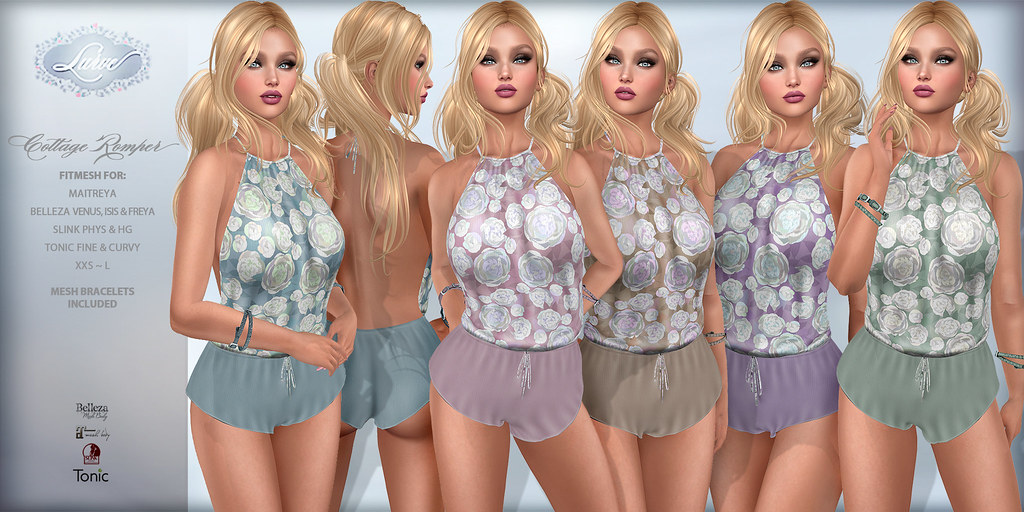 *Lurve* Cottage Fitmesh Romper Phat Pack