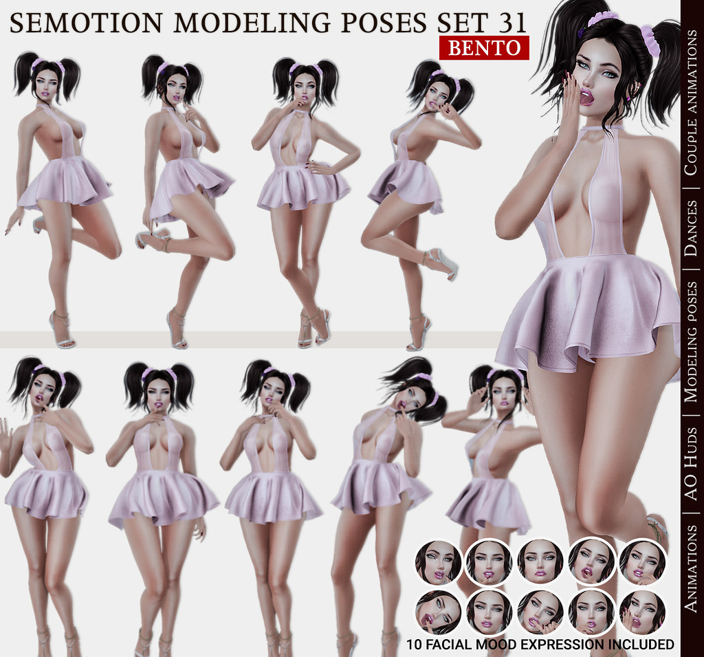 SEmotion Female Bento Modeling poses Set 31