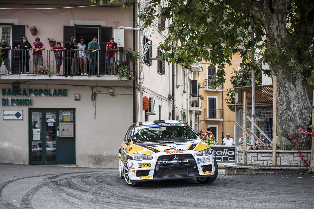 28 ALONSO Juan Carlo (arg), JOSE DIAZ Luis, (arg), Mitsubishi lancer evo X, action during the 2018 European Rally Championship ERC Rally di Roma Capitale,  from july 20 to 22 , at Fiuggi, Italia - Photo Gregory Lenormand / DPPI