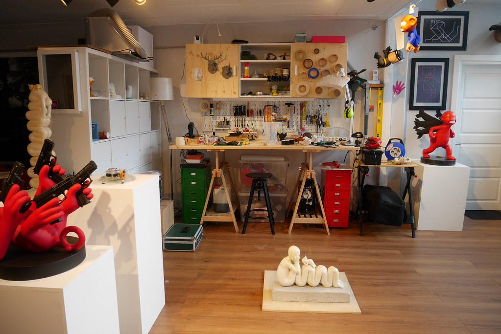 Erdil工作室雕塑創作區
