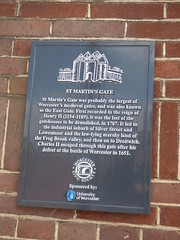 Photo of Charles II and St Martin's Gate black plaque