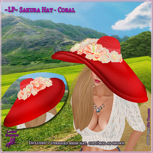 ~Ladies' Pleasure~ Sakura Hat - TeleportHub.com Live!