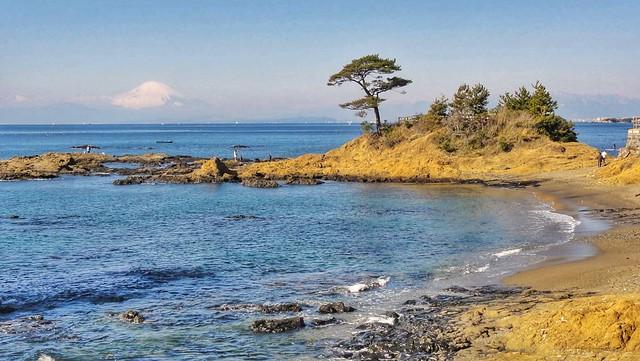 立石公園から眺める富士 改