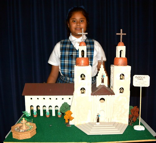 The 4th graders at Nativity School, El Monte, have been studying the California Missions, which included students visiting a mission and then constructing one