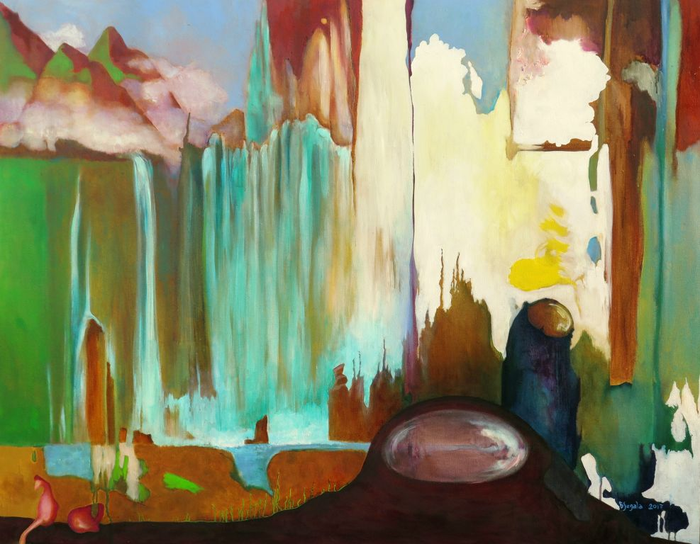 Germinazione - 90x115 cm. Oil on canvas 2017